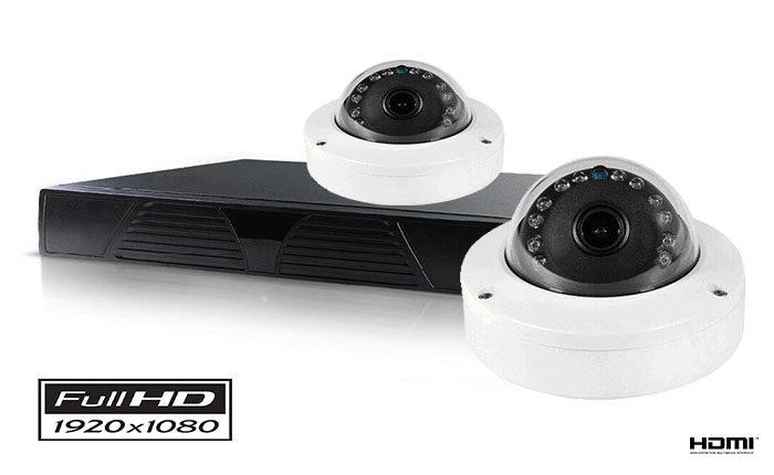 Set sa 2 kamere dome IP FULL HD