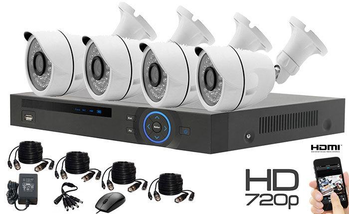 Set 4 kamere sa kablovima bulet 1