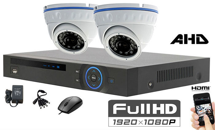 Set sa 2 kamere full hd dome ahd 1