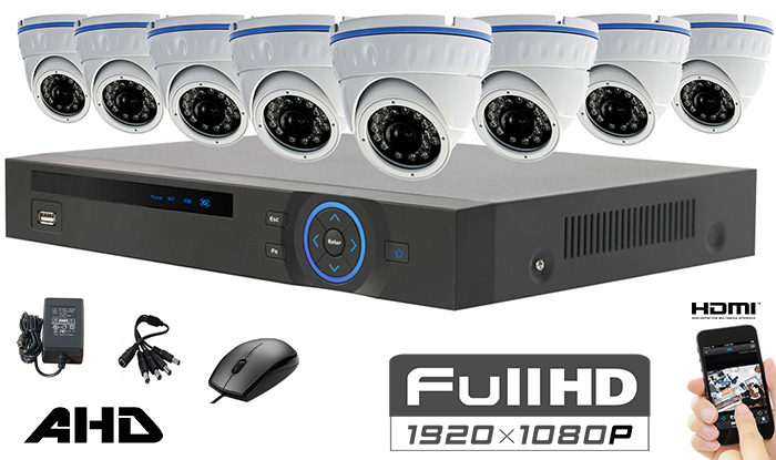 Set sa 8 kamera full hd dome ahd 1