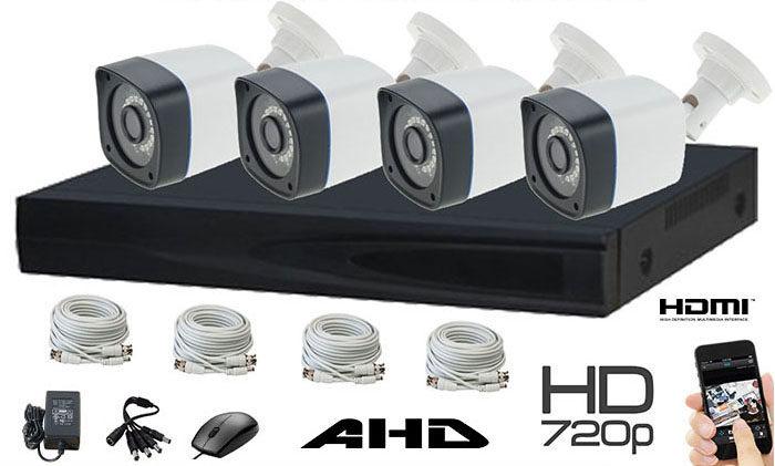 Set 4 kamere sa kablovima bullet plastic 1